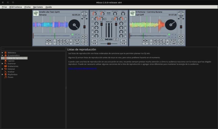 mezcla dos pistas con mixxx
