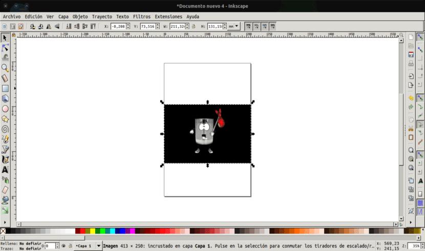 pantalla proyecto Inkscape