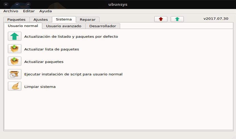 sistema ubunsys