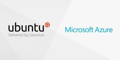 Logotipos de Ubuntu y Microsoft Azure