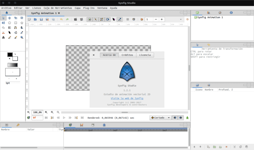 Synfig Studio about