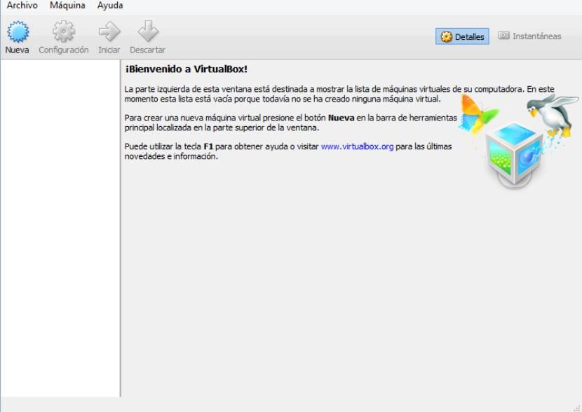 VirtualBox Ajustes