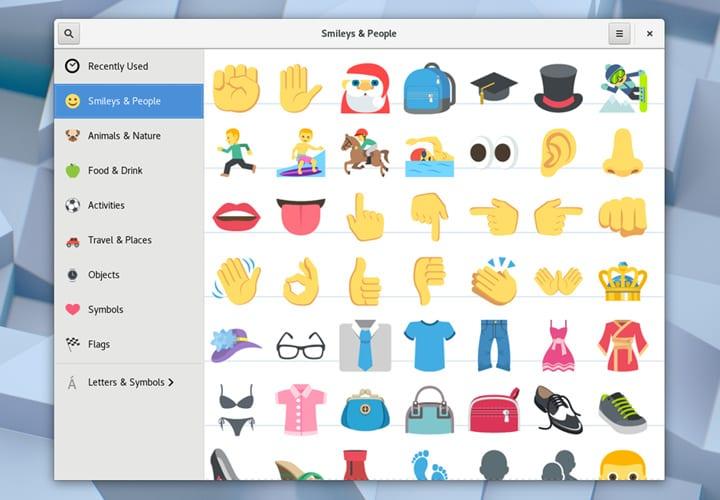 Gnome 3.26 emojis
