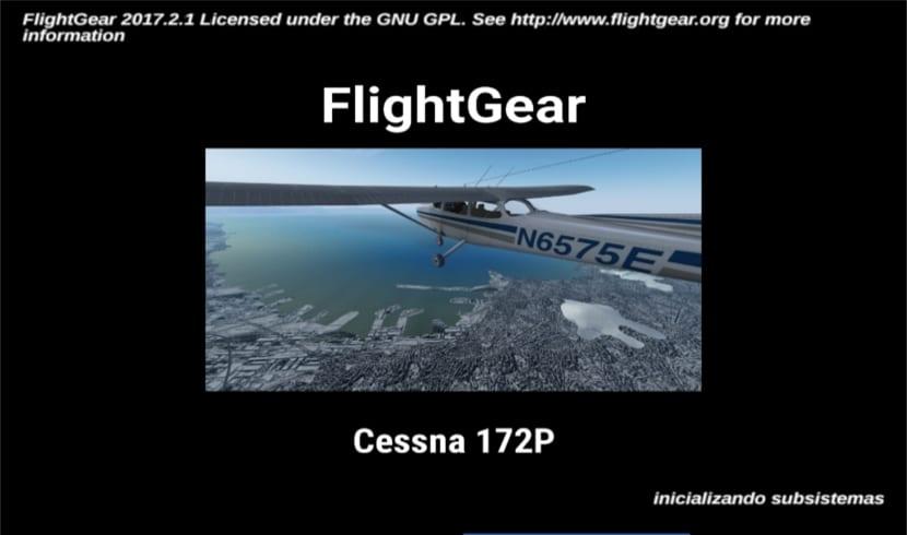 flightgear pantalla de carga