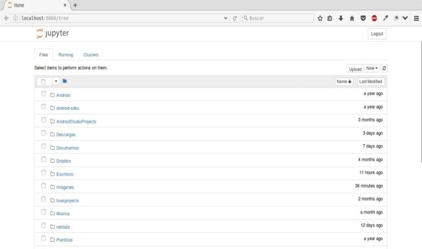 jupyter notebook navegador