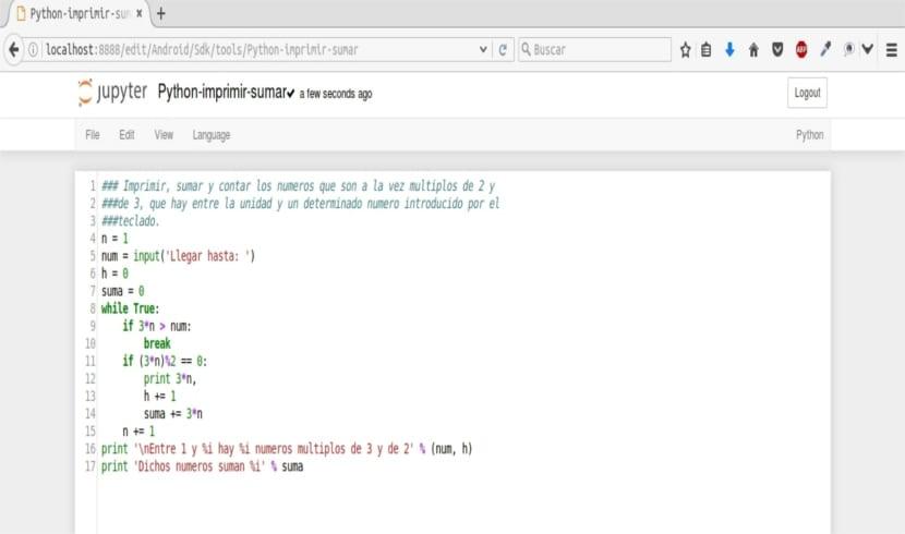 jupyter notebook programa python