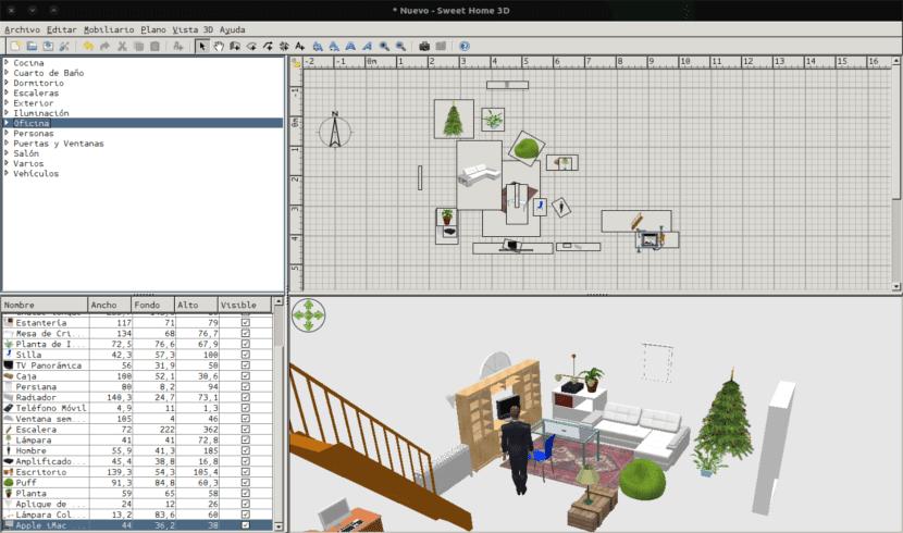 proyecto nuevo sweet home 3D