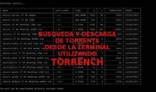 resultados torrench