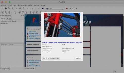 FreeCAD about