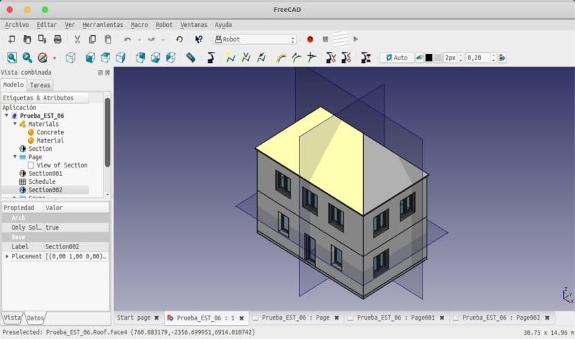 FreeCAD proyecto ejemplo