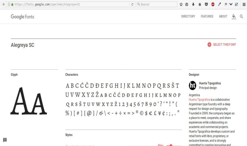 TypeCatcher instalar tipo de fuentes de google en el navegador