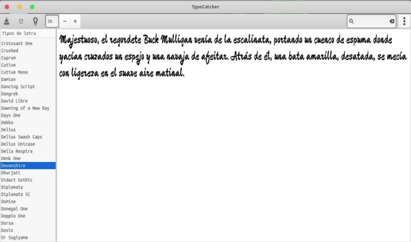 TypeCatcher tipo de letras