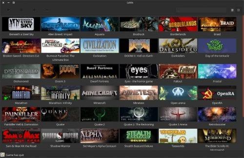 Captura de pantalla de Lutris