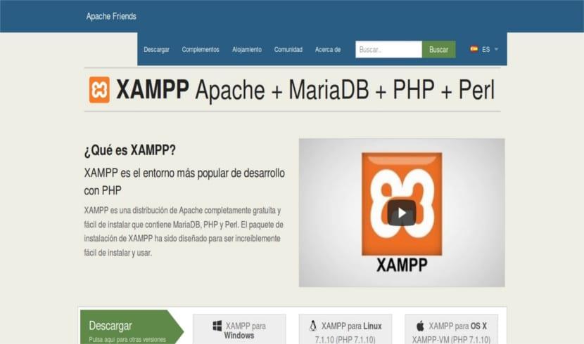 página web XAMPP