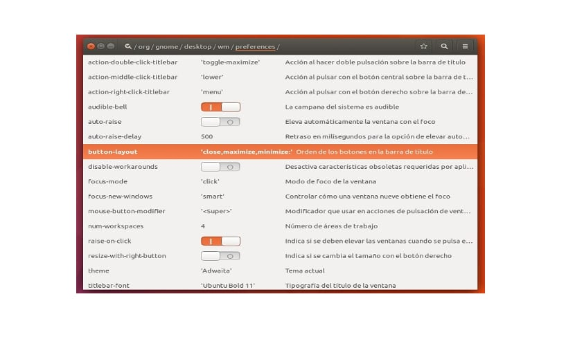 preferencias layout button