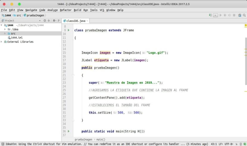 proyecto java con intellij IDEA