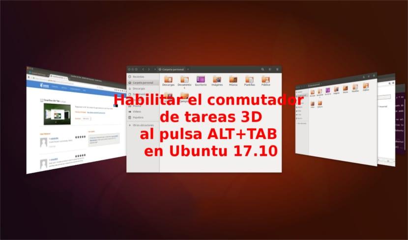 titulo activar alt tab 3d ubuntu 17.10 Windows Aero Flip