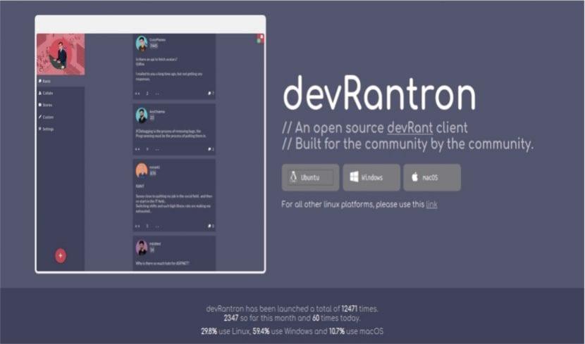 devRantron web