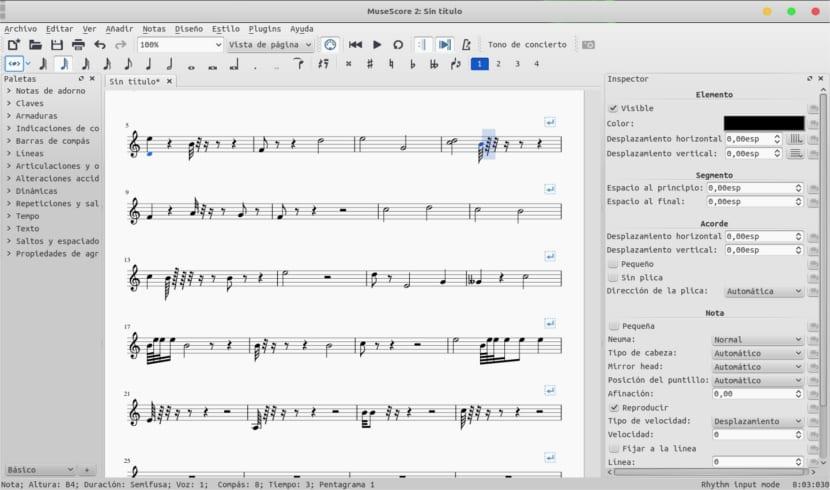 notación musical partitura de musescore