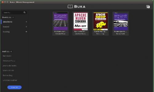 Buka, el gestor de ebooks en formato pdf