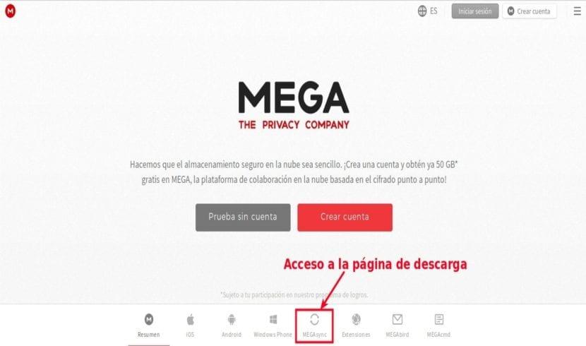 Descarga MEGAsync