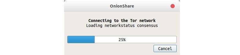 OnionShare test conexión