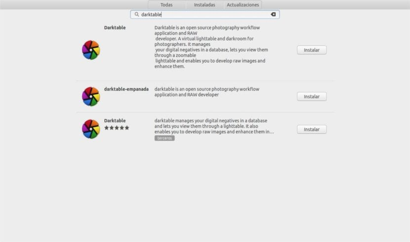 darktable software ubuntu snap