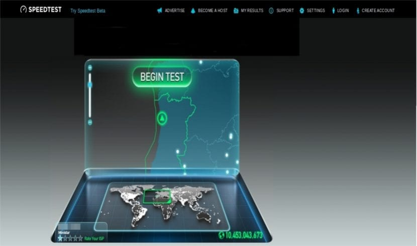 Speedtest web