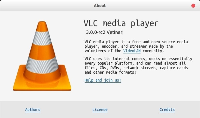 vlc 3 rc2 about