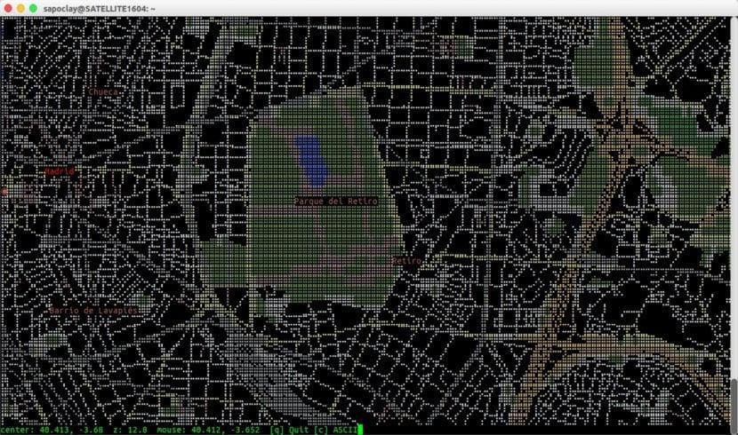 MapSCII mapa mundi parque del retiro