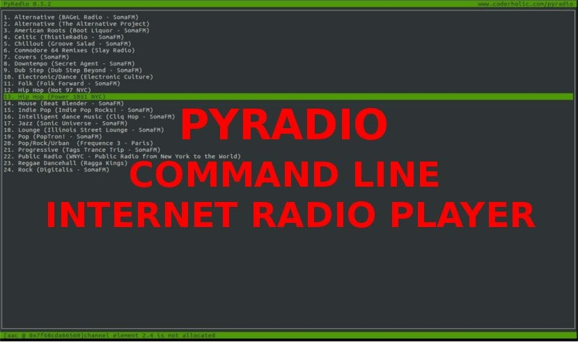 about Pyradio