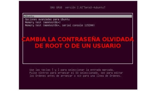 cambiar contraseña root usuario about