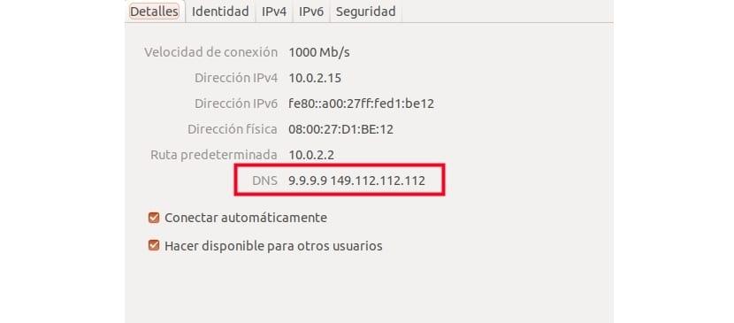 Confirmación DNS Ubuntu 17.10