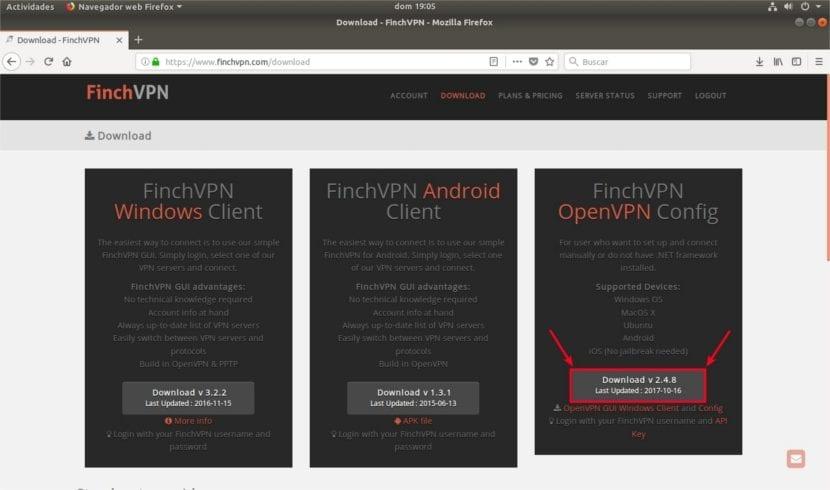 descarga ficheros configuración finchvpn