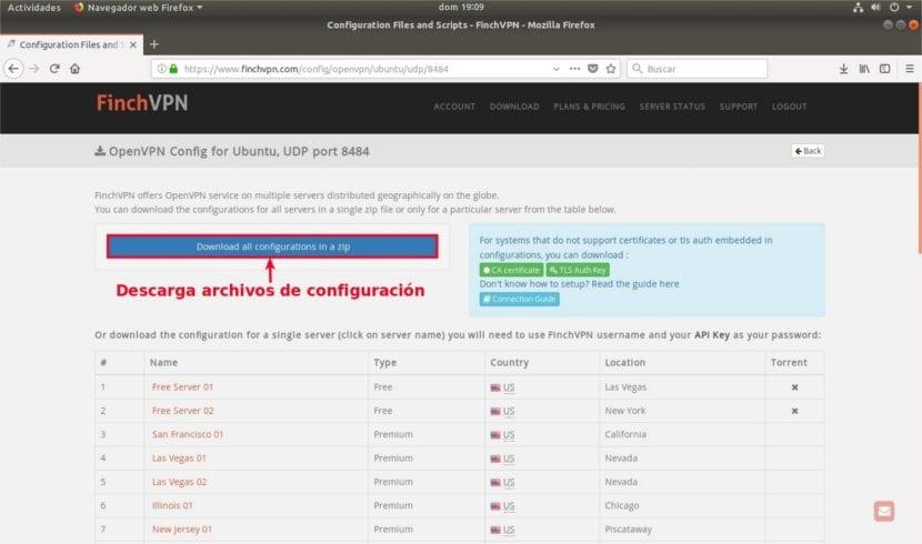 descarga zip archivos configuración finchvpn