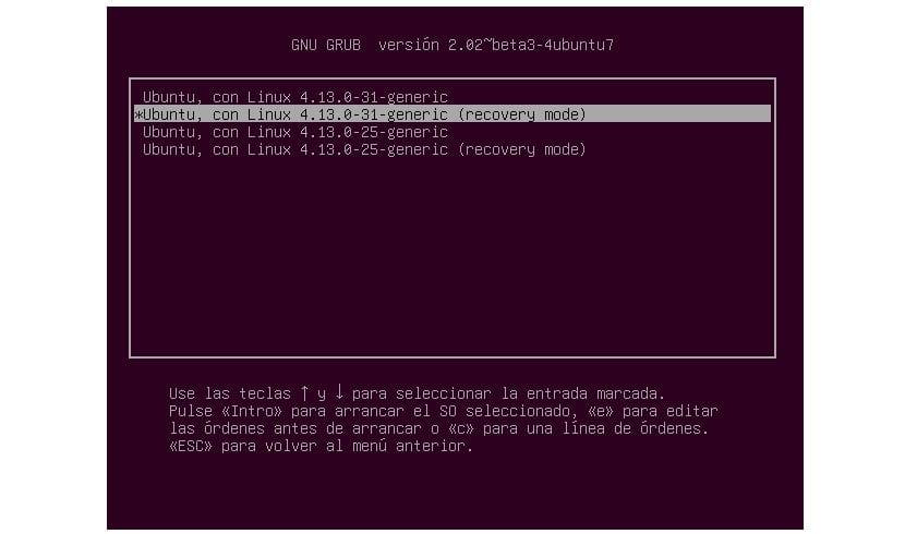 recovery mode ubuntu
