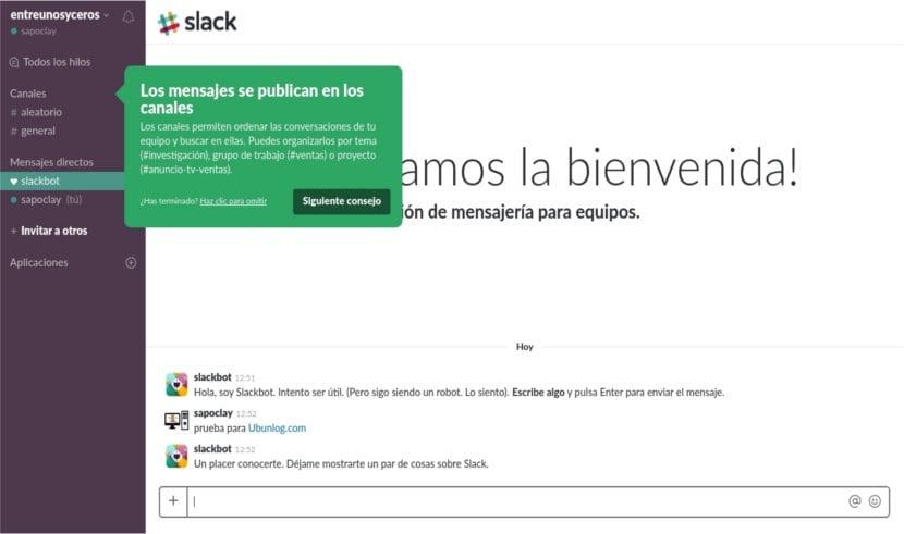 Slack tutorial de inicio