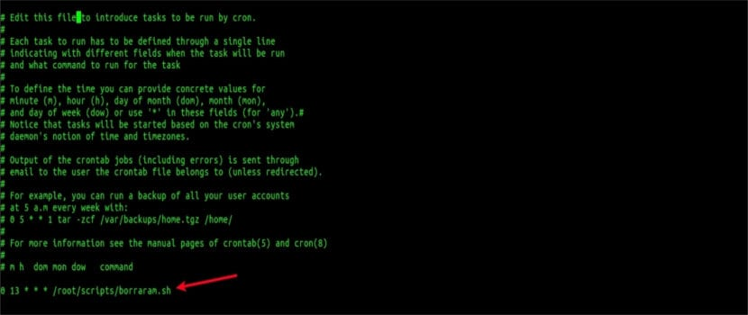 tarea cron drop_caches