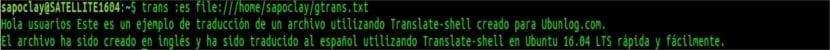 trans traducción archivo