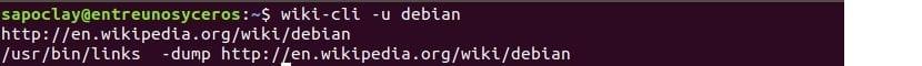 Wikipedia2text muestra URL