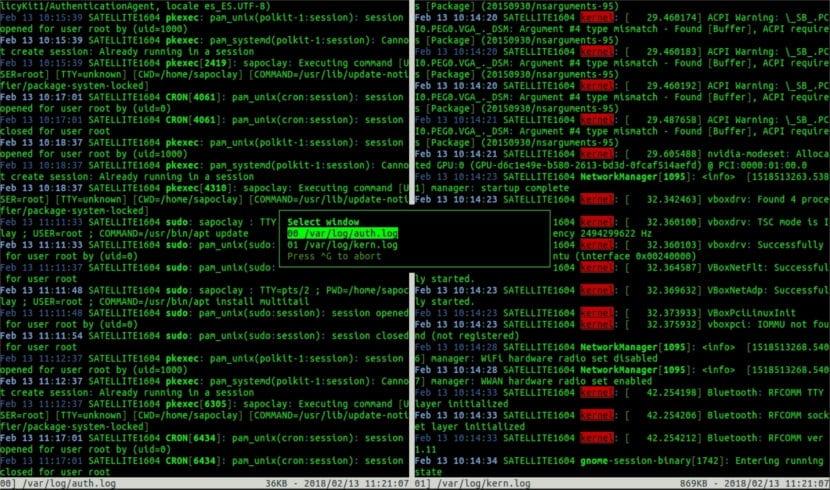 Multitail listado archivos abiertos