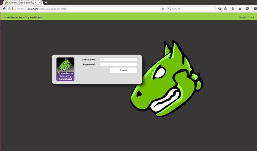 login openvas navegador