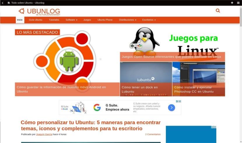 navegador min ubunlog