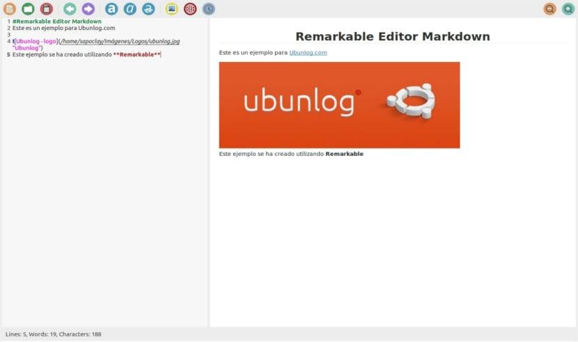 Remarkable editor Ubunlog