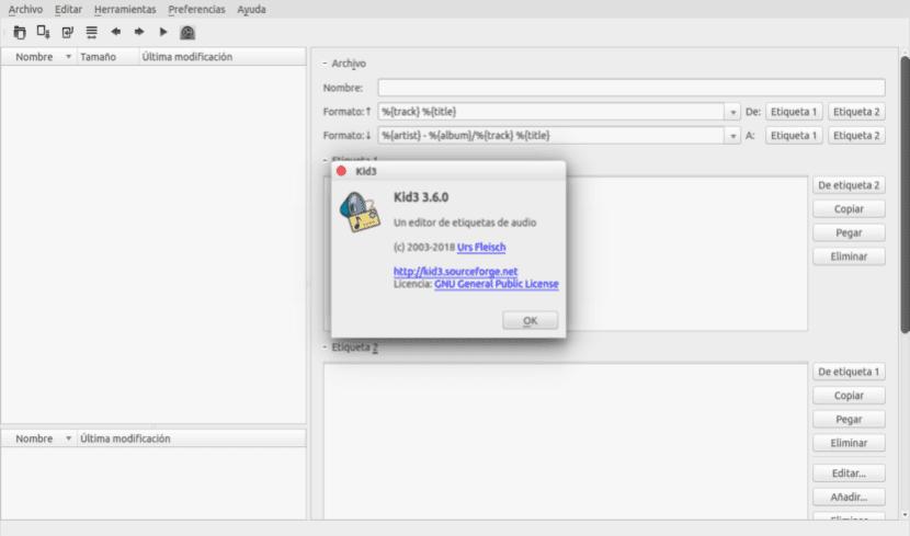 Kid3 Audio Tag Editor 3 6 0, un eficiente editor de etiquetas