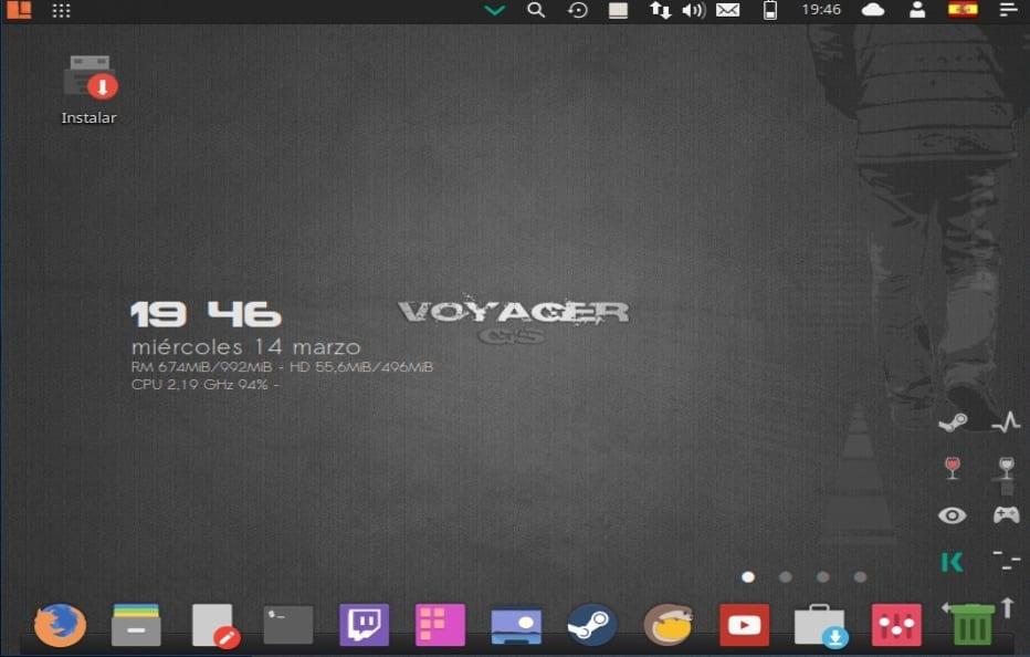 Escritorio Voyager Linux