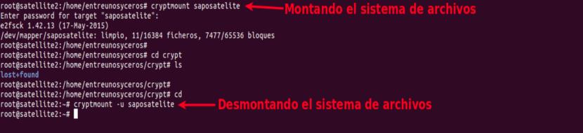 Acceso al sistema de archivos Cryptmount