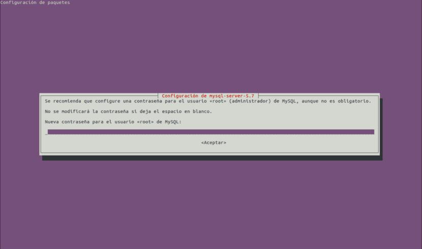 Configuración mysql server