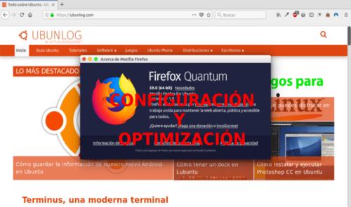 Configuración y optimización de Firefoz Quantum