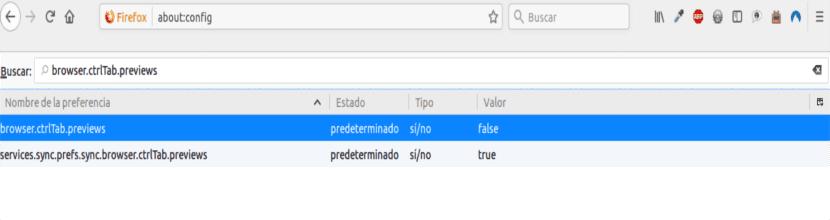 Desactivar las miniaturas de Firefox Quantum